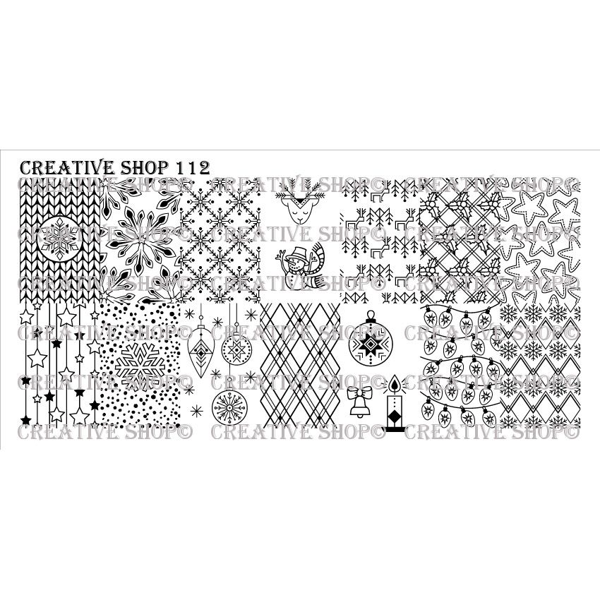 Creative Shop- Stamping Plate- 112