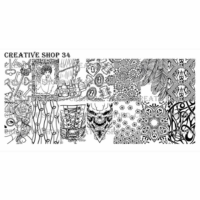 Creative Shop- Stamping Plate- 034
