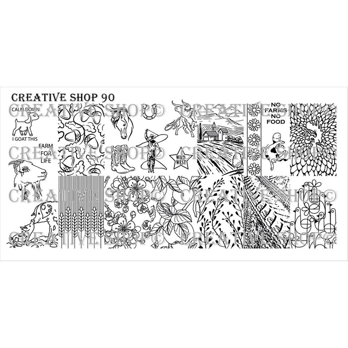 Creative Shop- Stamping Plate- 090