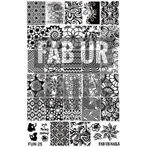 Fab Ur Nails- Stamping Plate- FUN25