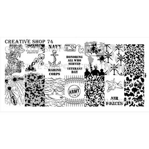 Creative Shop- Stamping Plate- 074