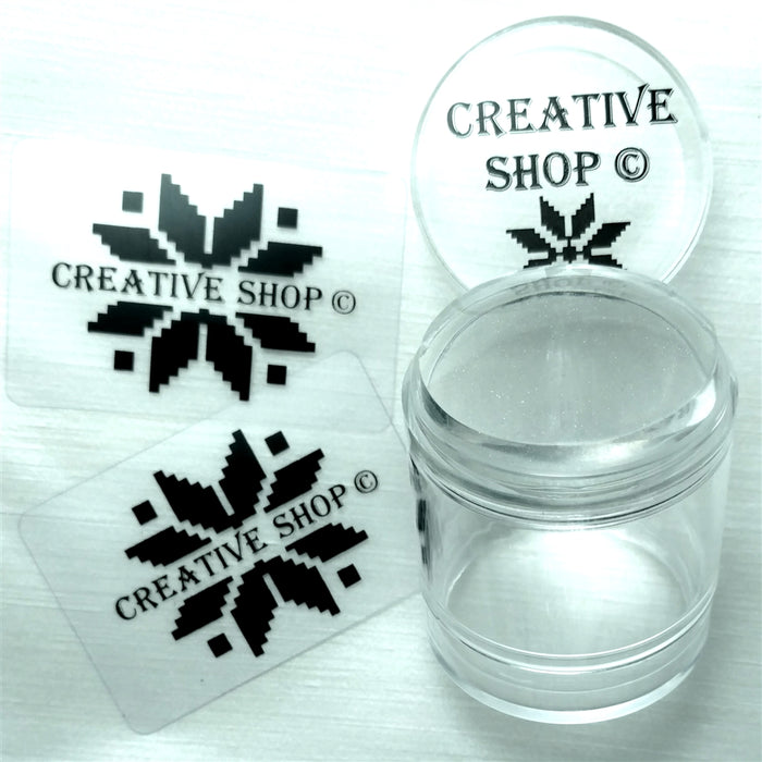 Creative Shop Holo Glassy Stamper + Scraper Set