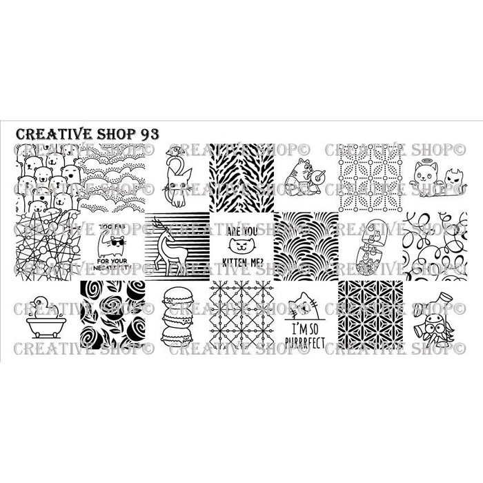 Creative Shop- Stamping Plate- 093