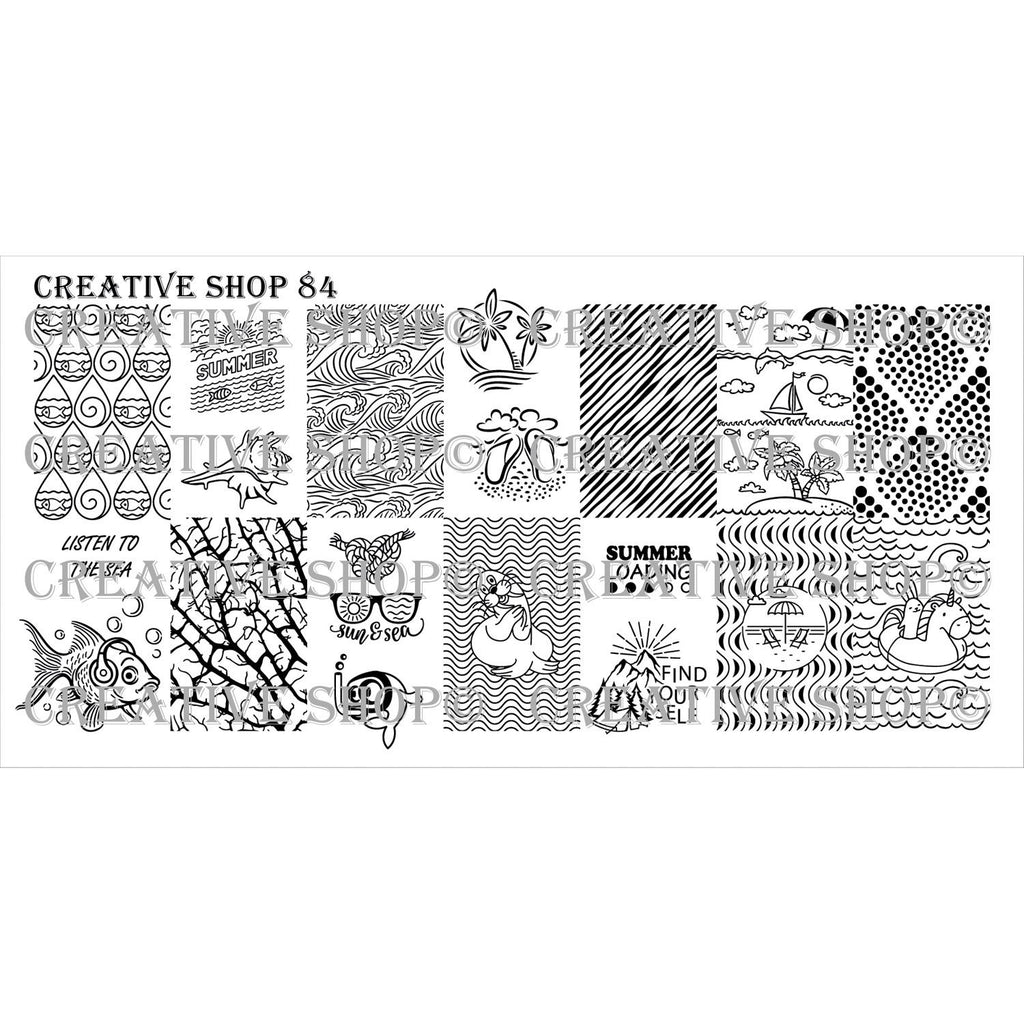 Creative Shop- Stamping Plate- 084