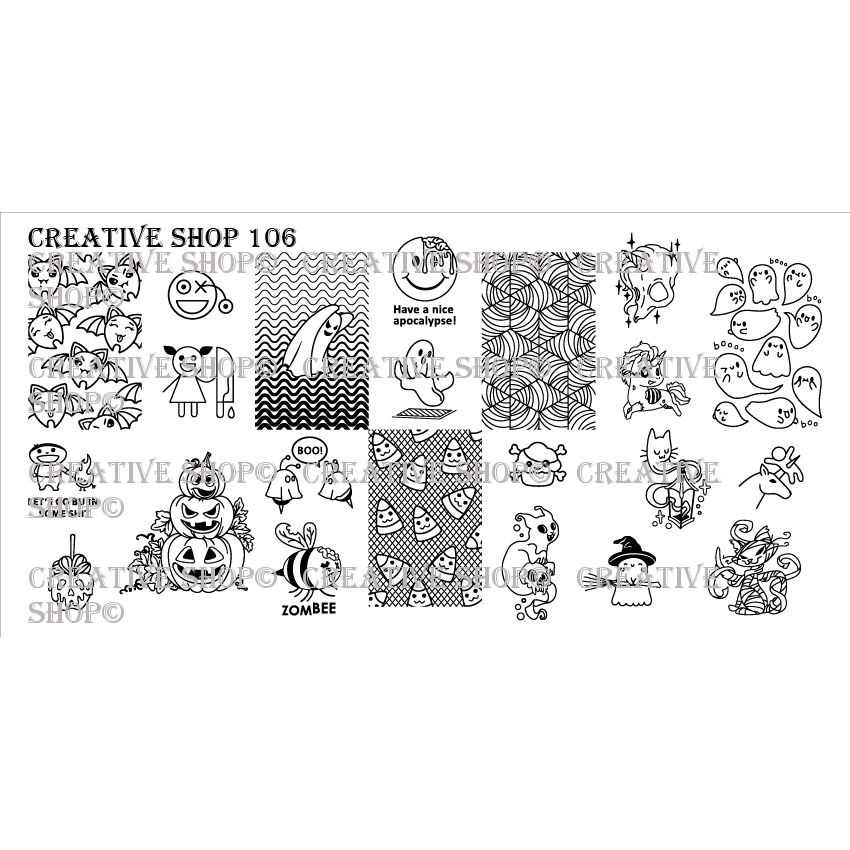 Creative Shop- Stamping Plate- 106