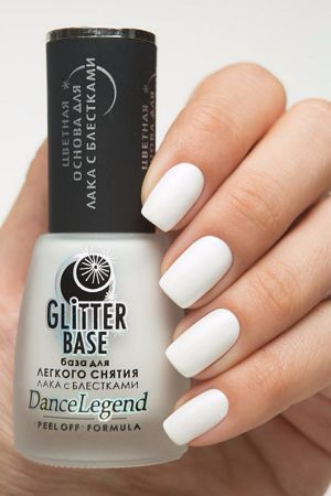Dance Legend- Base Coats- Glitter Base White