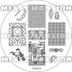 Messy Mansion Image Plate MM45
