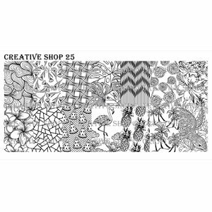 Creative Shop- Stamping Plate- 025
