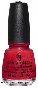 China Glaze- Rebel -  Ya'll Red-y For This?
