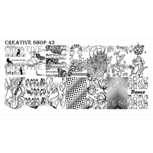 Creative Shop- Stamping Plate- 043