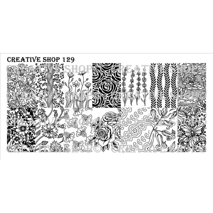 Creative Shop- Stamping Plate- 129