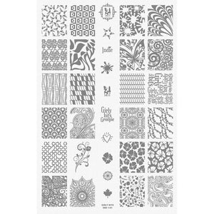 Girly Bits- Stamping Plate 1-01