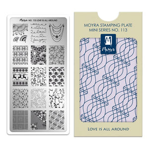 Moyra Mini Stamping Plate 113- Love is All Around