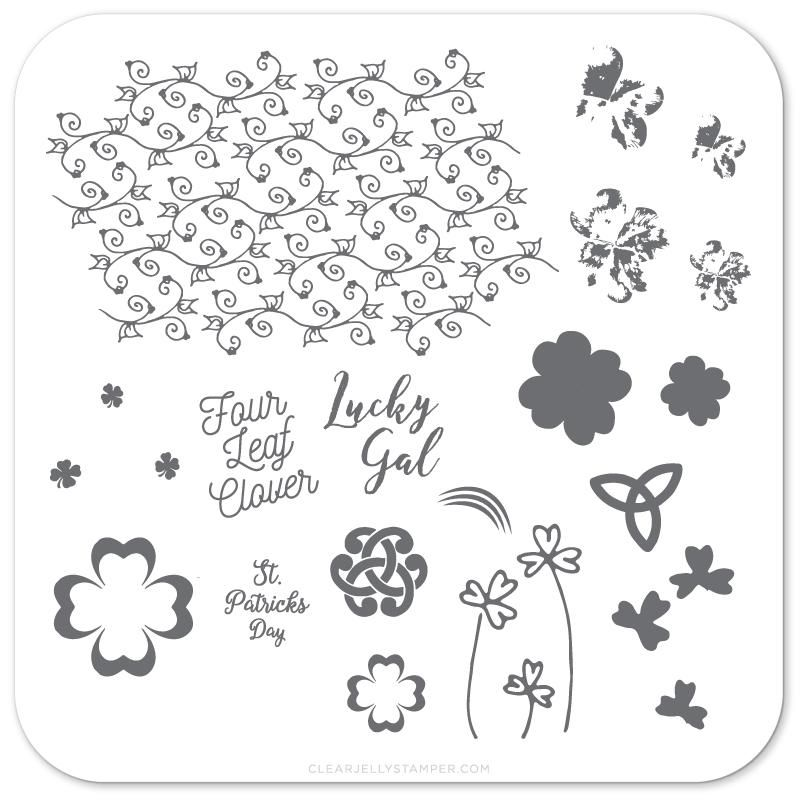 Clear Jelly Stamper- Four Leaf Clover (CjSH-18)
