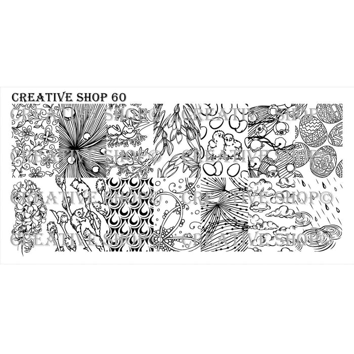 Creative Shop- Stamping Plate- 060