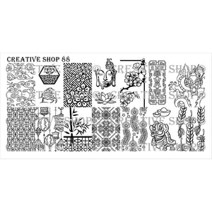Creative Shop- Stamping Plate- 088
