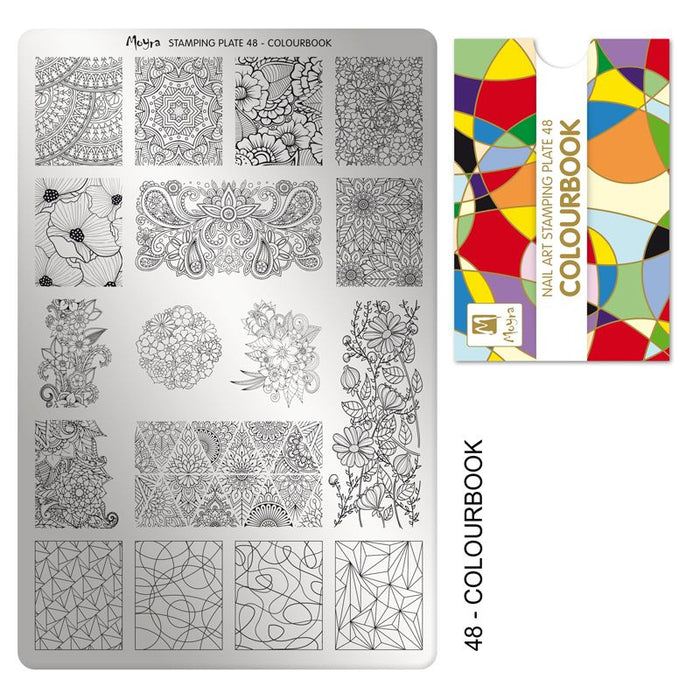 Moyra Stamping Plate 048- Colour Book
