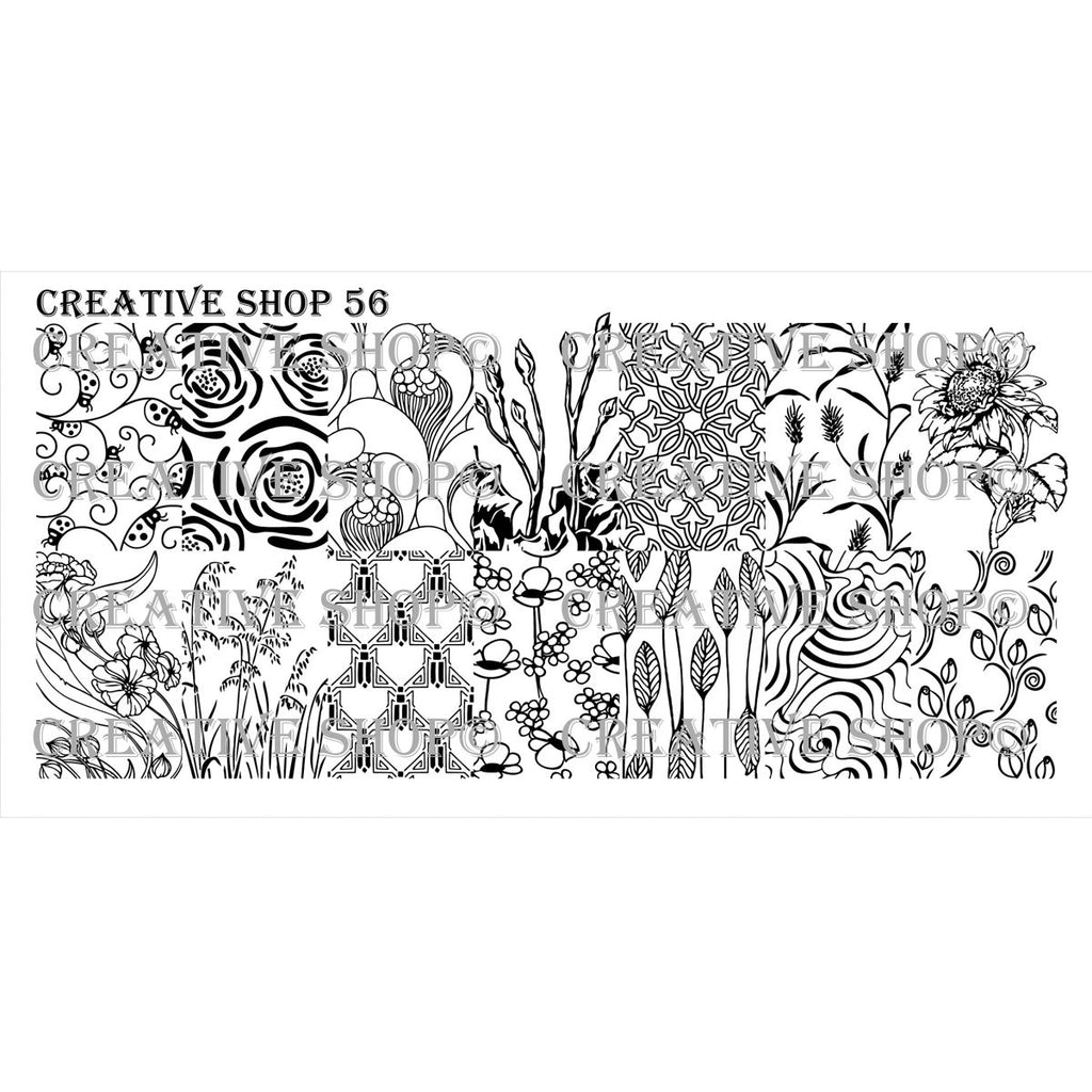 Creative Shop- Stamping Plate- 056