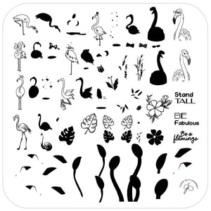 Clear Jelly Stamper- CjS-093- Lil Flamingo