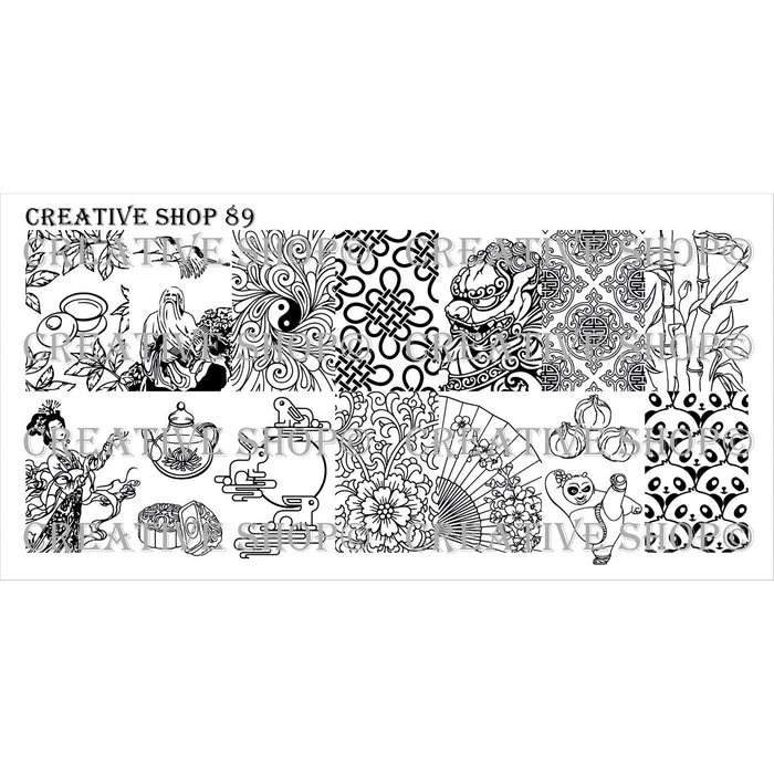 Creative Shop- Stamping Plate- 089