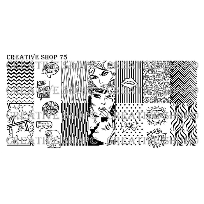 Creative Shop- Stamping Plate- 075