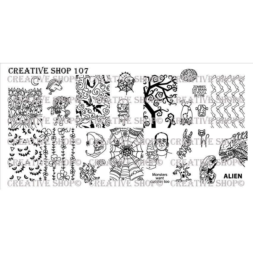 Creative Shop- Stamping Plate- 107