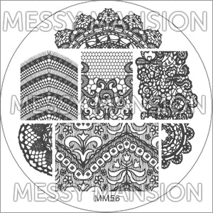 Messy Mansion Image Plate MM56