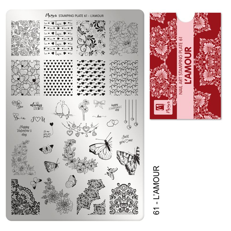 Moyra Stamping Plate 61 - L'Amour