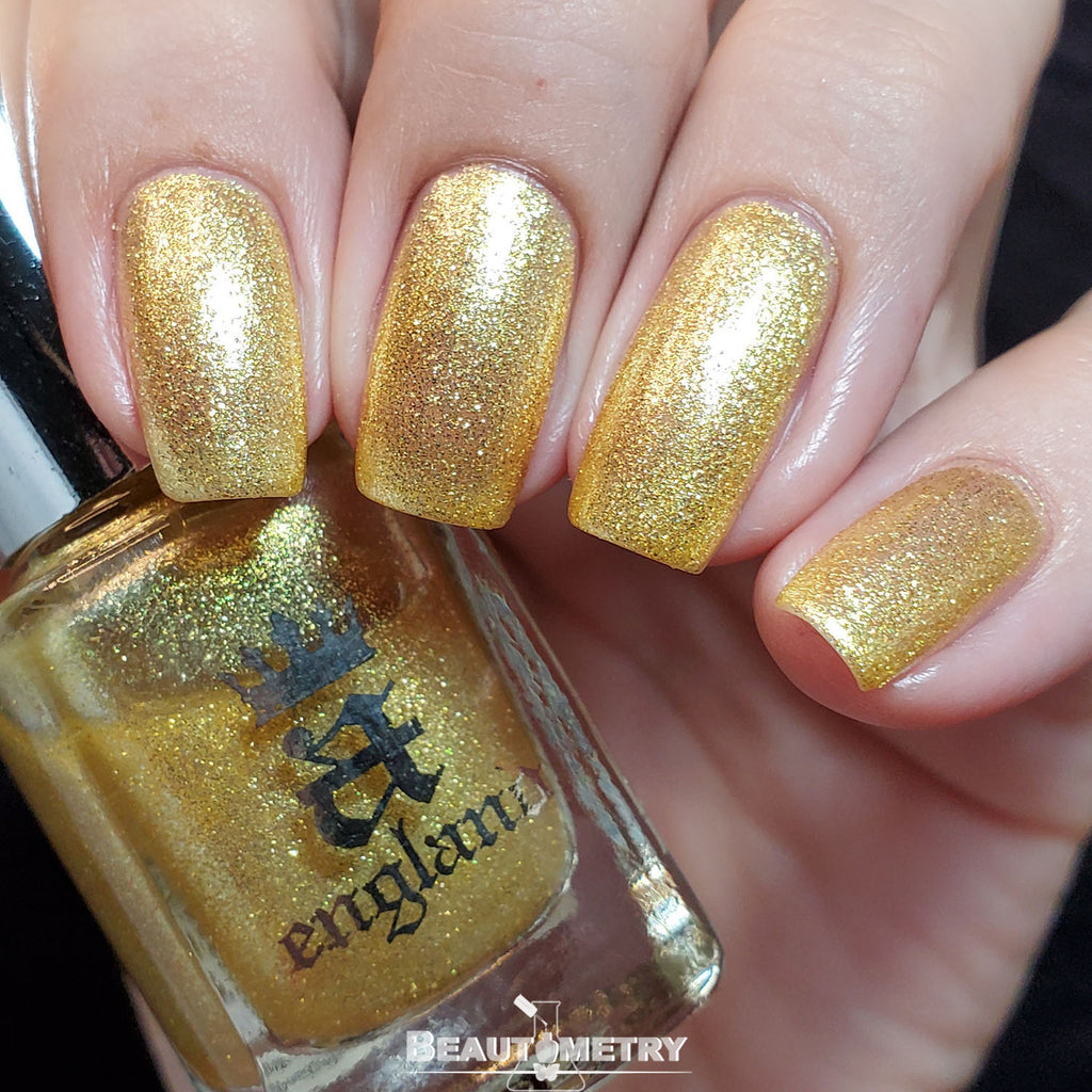 moonbeams yellow shimmer nail polish