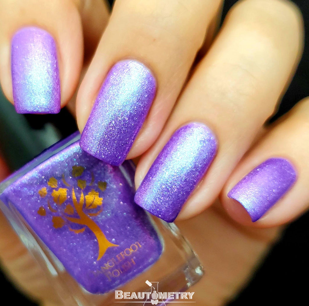 purple flake nail polish