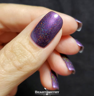 wikkid purple holographic nail polish
