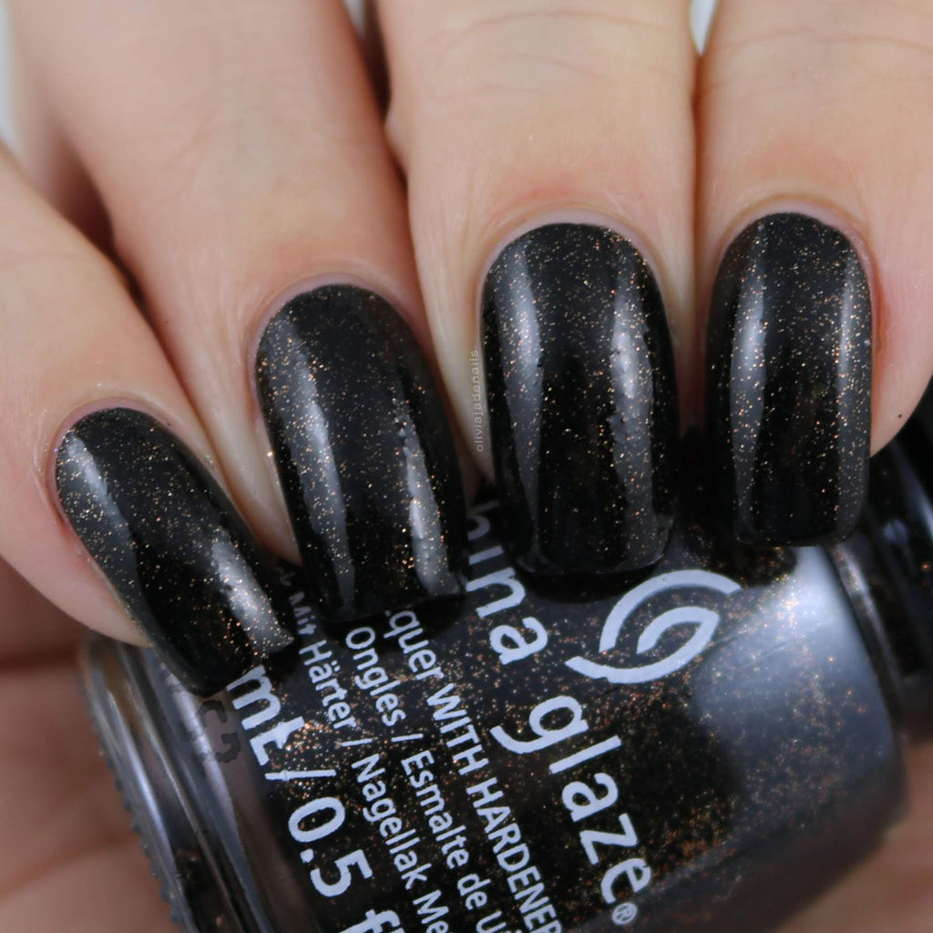 China Glaze- Paint It Black- Ash & Burn