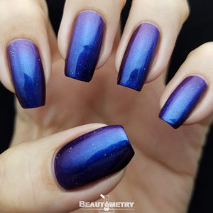 bowerbirds treasure blue multichrome nail polish