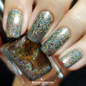 holographic flakie nail polish