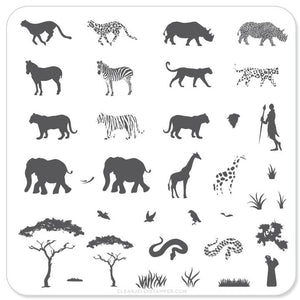 Clear Jelly Stamper- CjS-015- Out of Africa