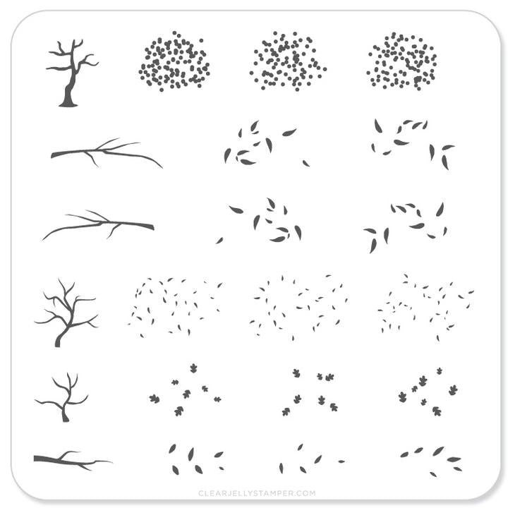Clear Jelly Stamper- CjS-027- Trees! Trees! Trees!