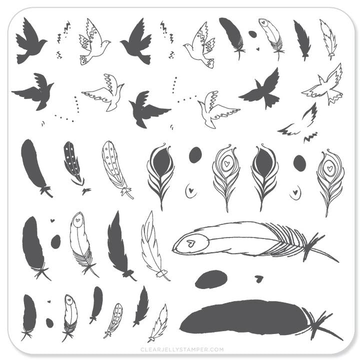 Clear Jelly Stamper- CjS-031- Birds of a Feather