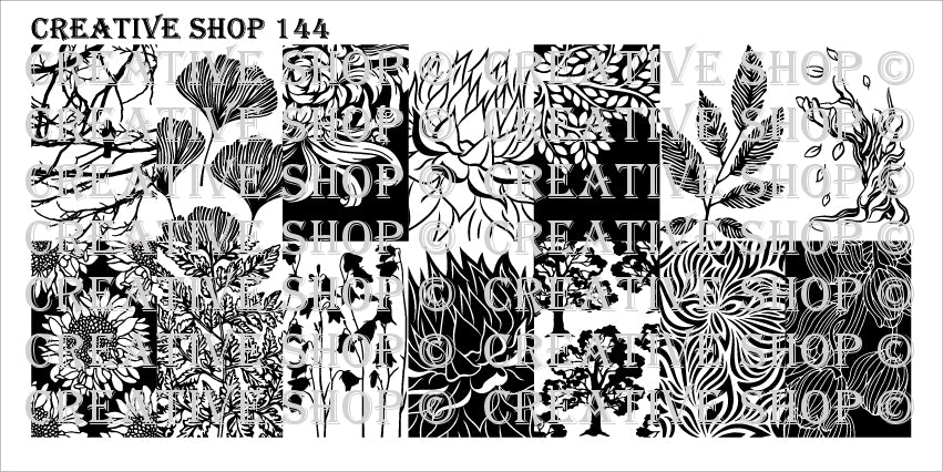 Creative Shop- Stamping Plate- 144
