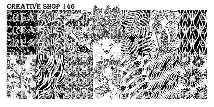Creative Shop- Stamping Plate- 146
