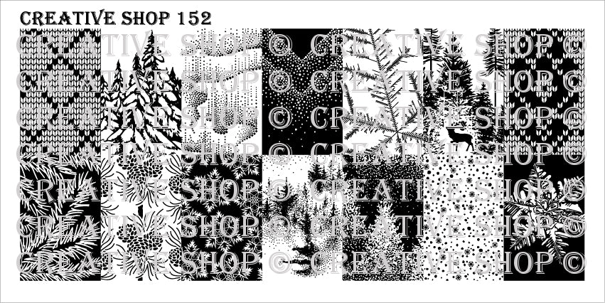 Creative Shop- Stamping Plate- 152