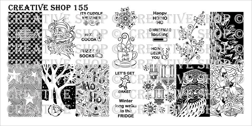 Creative Shop- Stamping Plate- 155