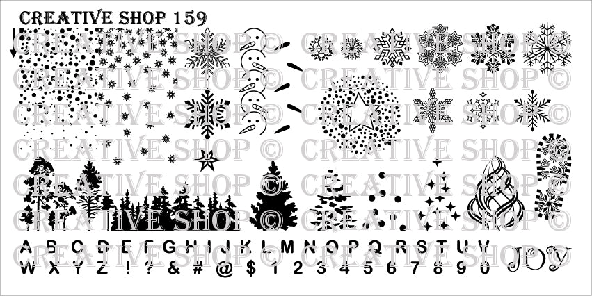 Creative Shop- Stamping Plate- 159