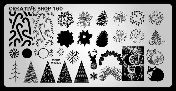 Creative Shop- Stamping Plate- 160