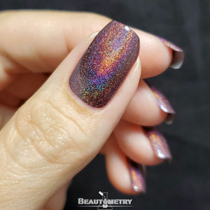 a-england red holographic nail polish