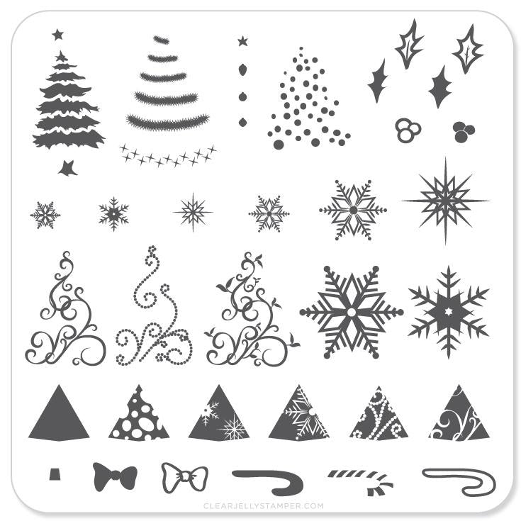 Clear Jelly Stamper- C-01- Christmas Tree
