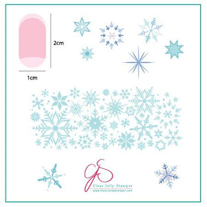 Clear Jelly Stamper- CjS-003- Snowflakes