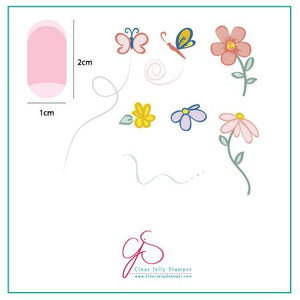 Clear Jelly Stamper- CjS-004- Infinite Flower
