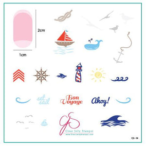 Clear Jelly Stamper- CjS-006- By the Sea