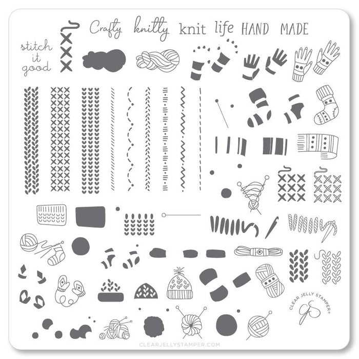 Clear Jelly Stamper- CjS-114- Crafty Life