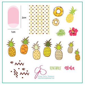 Clear Jelly Stamper- CjS-130- Pineapple Pizzazz
